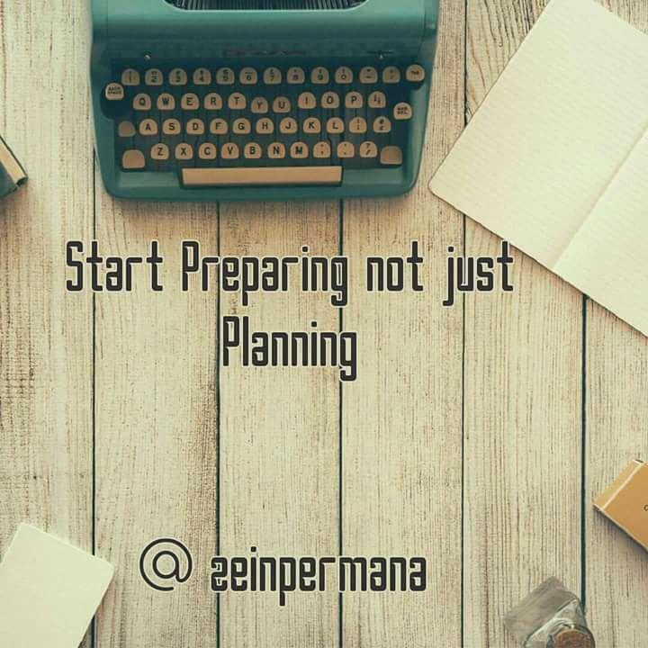 Start Preparing Stop Planning